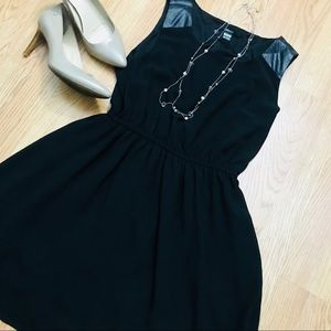 Forever 21 little black dress with faux leather